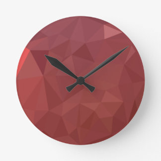 Amaranth Purple Abstract Low Polygon Background Clock