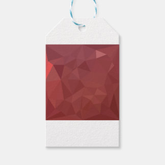 Amaranth Purple Abstract Low Polygon Background Gift Tags