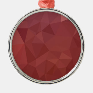 Amaranth Purple Abstract Low Polygon Background Metal Ornament