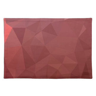 Amaranth Purple Abstract Low Polygon Background Placemat