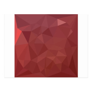 Amaranth Purple Abstract Low Polygon Background Postcard