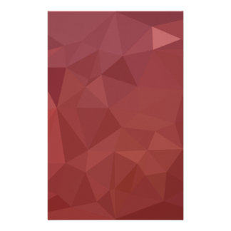 Amaranth Purple Abstract Low Polygon Background Stationery