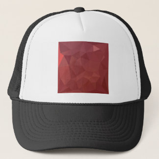 Amaranth Purple Abstract Low Polygon Background Trucker Hat