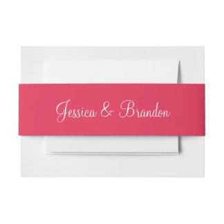 Amaranth Traditional Color Matched Invitation Belly Band