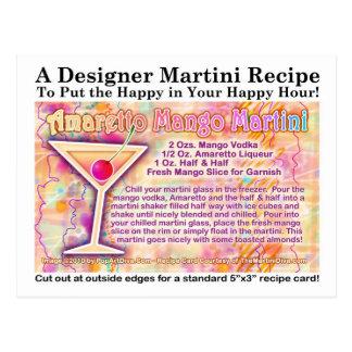 Amaretto Mango Martini Recipe Postcard