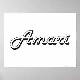 Amari Classic Retro Name Design Poster