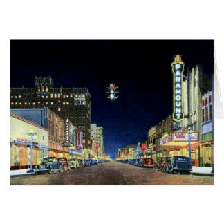 Amarillo Night Scene on Polk Street Card