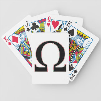 Amarillo Omegas Bicycle Playing Cards