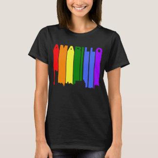 Amarillo Texas Gay Pride Rainbow Skyline T-Shirt