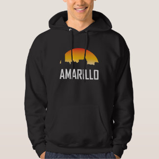Amarillo Texas Sunset Skyline Hoodie