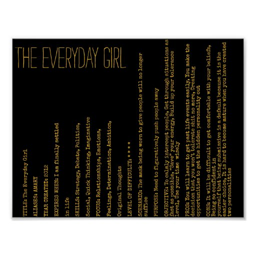 AMARY - THE EVERYDAY GIRL POSTER