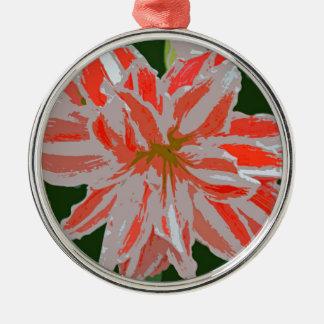 Amaryllis-d Metal Ornament