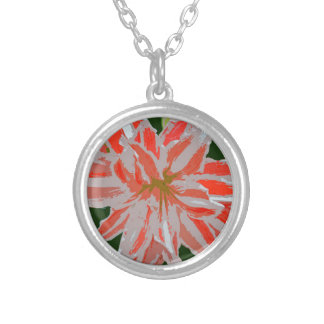 Amaryllis-d Silver Plated Necklace