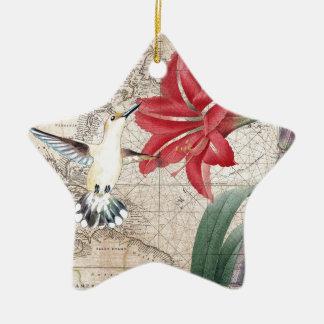 Amaryllis Mao Hummer Ceramic Ornament
