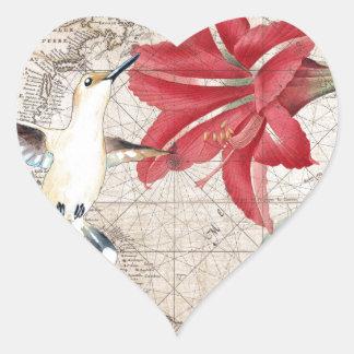 Amaryllis Mao Hummer Heart Sticker
