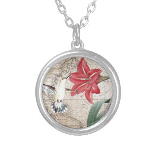 Amaryllis Mao Hummer Silver Plated Necklace