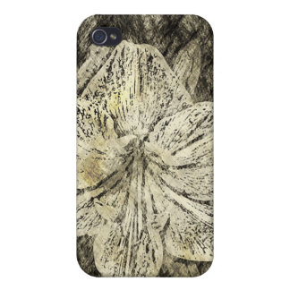 Amaryllis Old Time Sketch iPhone 4 Covers