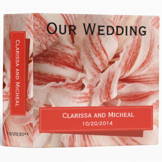 Amaryllis Petals Binder for Wedding Pics