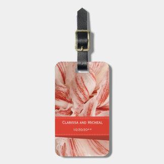 Amaryllis Petals Honeymoon Bag Tag