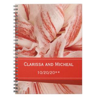 Amaryllis Petals Personalized Wedding Notes Book