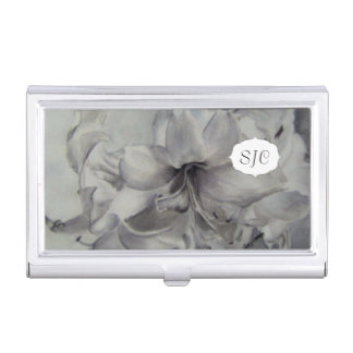 AMARYLLIS WATERCOLOR FLOWER BUSINESS CARD HOLDER
