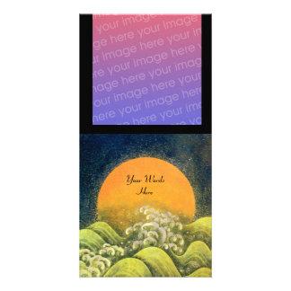 AMATERASU , SUN GODDESS , green yellow black Photo Card Template