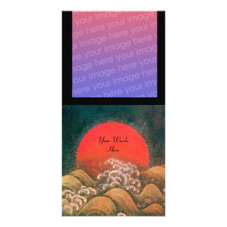 AMATERASU , SUN GODDESS ,red black brown Picture Card