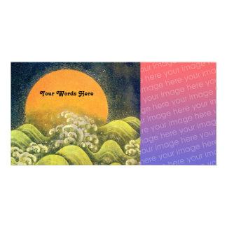 AMATERASU , SUN GODDESS ,yellow green black Custom Photo Card