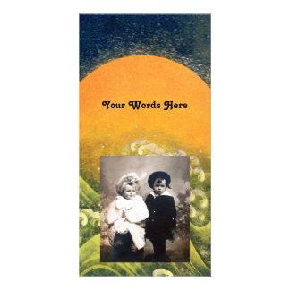 AMATERASU , SUN GODDESS ,yellow green black Customized Photo Card