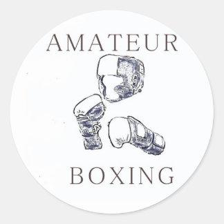 Amateur Boxer Classic Round Sticker