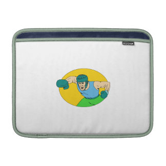 Amateur Boxer Knockout Punch Drawing MacBook Air Sleeve