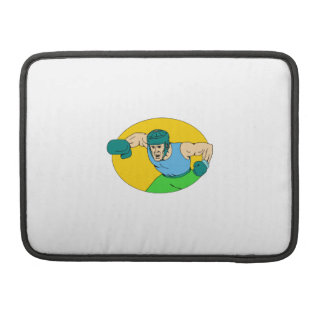 Amateur Boxer Knockout Punch Drawing MacBook Pro Sleeve