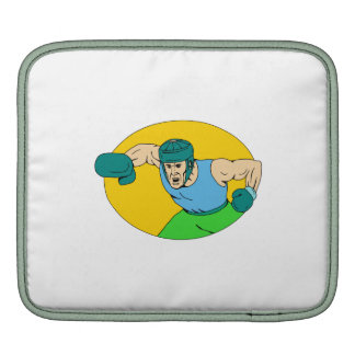 Amateur Boxer Knockout Punch Drawing Sleeves For iPads