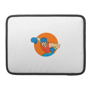 Amateur Boxer Overhead Punch Circle Drawing Sleeves For MacBook Pro