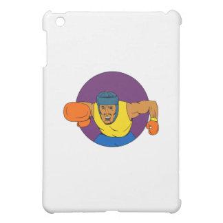 Amateur Boxer Punching Circle Drawing iPad Mini Case