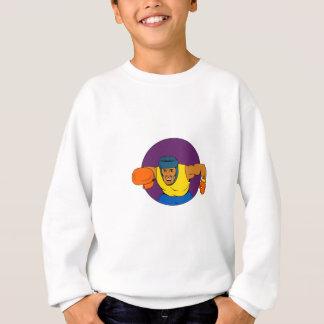 Amateur Boxer Punching Circle Drawing Sweatshirt