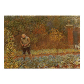 Amateur (Coachman & Cabbages) by Frederick Walker Poster