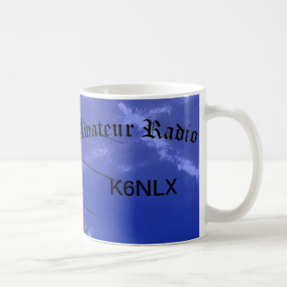 Amateur Radio and Call Sign Classic White Coffee Mug