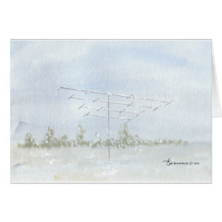 Amateur Radio Antenna in Winter Card
