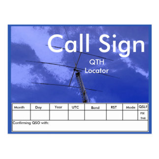 Amateur Radio Beam and Tower QSL Postcard