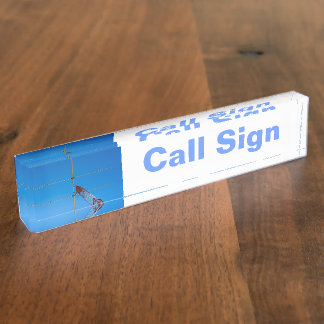 Amateur Radio Call Sign and Antenna 2 Desk Name Plates