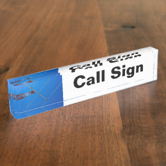 Amateur Radio Call Sign and Antenna Desk Name Plate