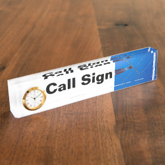 Amateur Radio Call Sign and Antenna Name Plate