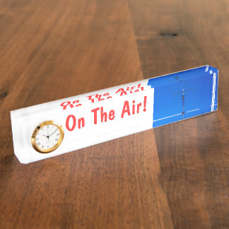 Amateur Radio Call Sign On Air & Clock Desk Name Plate