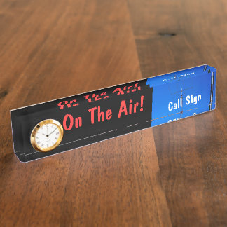 Amateur Radio Call Sign On Air & Clock Name Plate