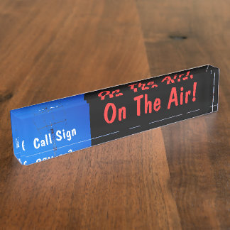 Amateur Radio Call Sign On Air Name Plates