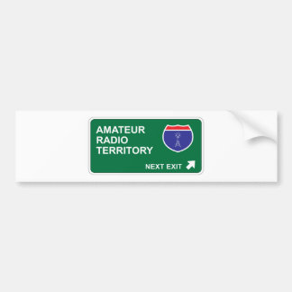 Amateur Radio Next Exit Bumper Sticker