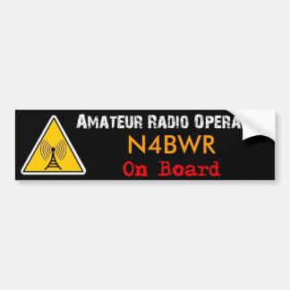 Amateur Radio Operator on Board Bumper Sticker
