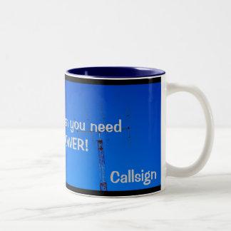 Amateur Radio QRO and Callsign Mug