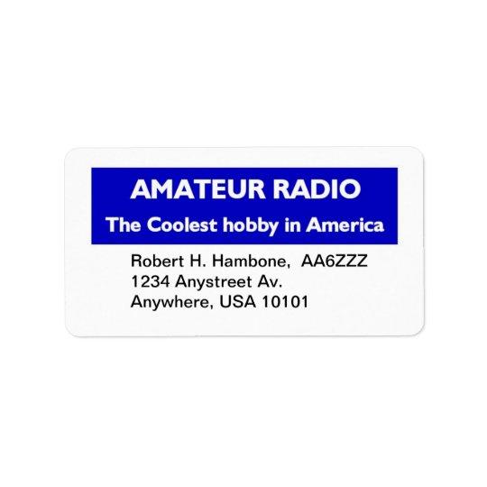 Amateur Radio Return Stickers